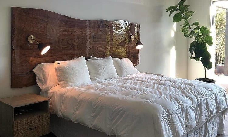 headboard with light