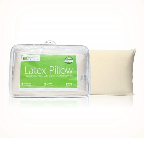 All Natural Latex Pillow with Organic Cotton Covering