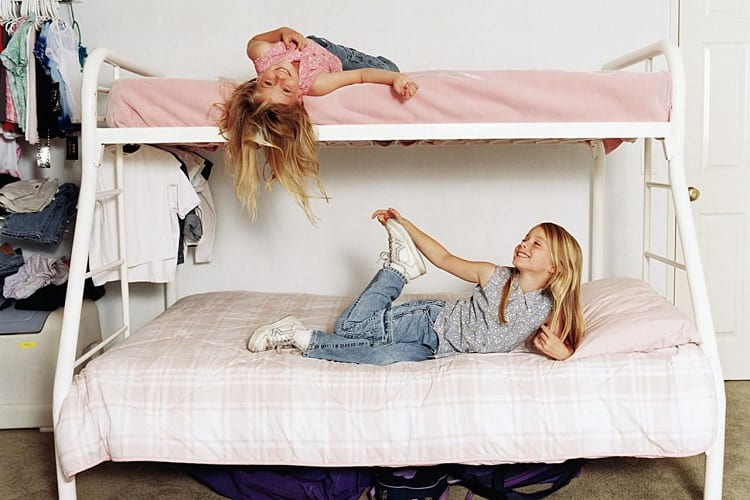 Two Girls On Loft Bed